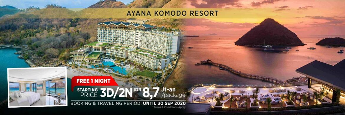 Ayana Komodo Resort Waecicu Beach 		   – 3D/2N Best Deal Promotion – Full Ocean View Room (1 Apr – 30 Sep 2020)