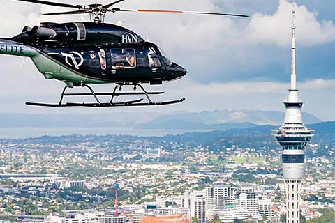 Auckland Helicopter Experience – Volcanoes Dan Beaches / Coast to Coast and more