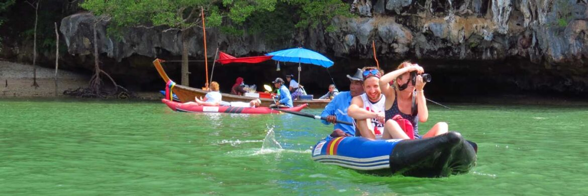 Full Day James Bond with Canoe Tour by Long Tail Boat