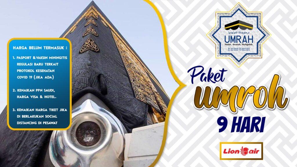 Paket Ibadah Umroh 9 Hari LionAir Hotel Bintang 5