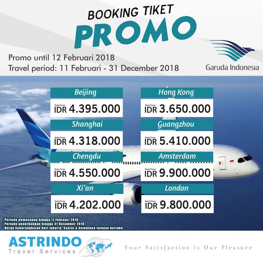 Cara Booking Tiket Pesawat Garuda Indonesia